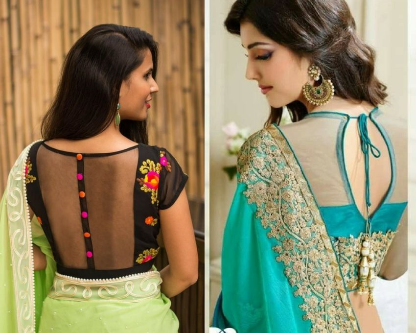 Back neck blouse- modelling agencies in mumbai