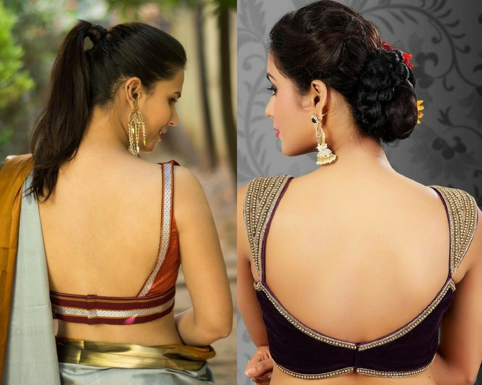 Deep back neck blouse designs-modelling agencies mumbai