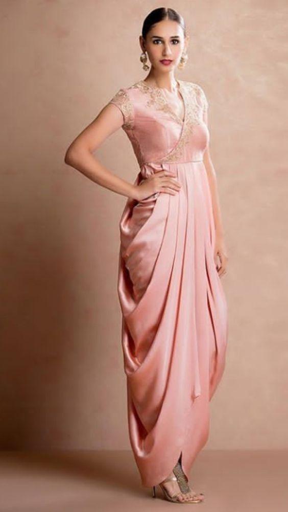 Sari styled one piece